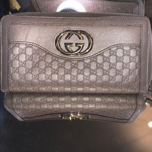 💥GUCCI print zipper wallet
